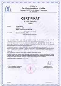 VVUÚ certifikát